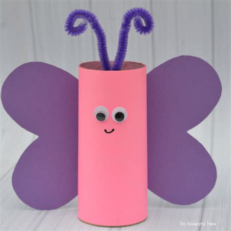 Paper Butterfly Craft - toilet paper roll butterfly craft the resourceful