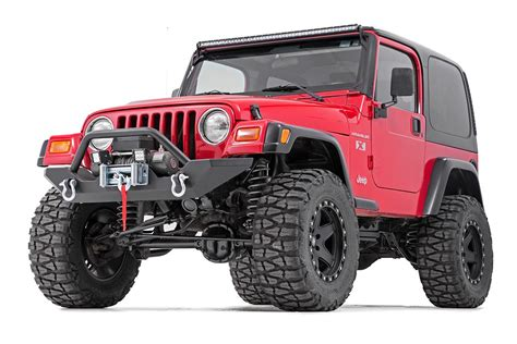 jeep yj winch rock crawler width black front winch bumper for 87 06