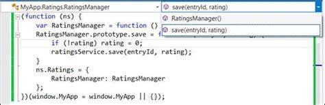 javascript namespace pattern tutorial javascript editor improvements in visual studio 2013