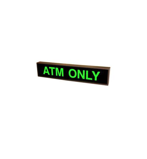 Sign Led Atm led backlit atm only sign led atm only sign