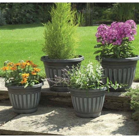 Planters Company by Greenhurst Georgian Style Planters Pack Of Four Garden