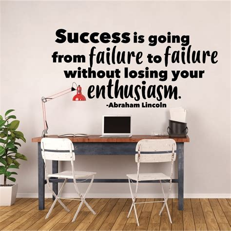 success inspirational motivation vinyl wall quote decal success quotes for motivation abraham lincoln success is