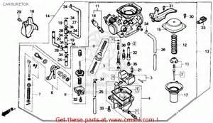 honda cmx250c rebel 1986 g usa carburetor schematic partsfiche
