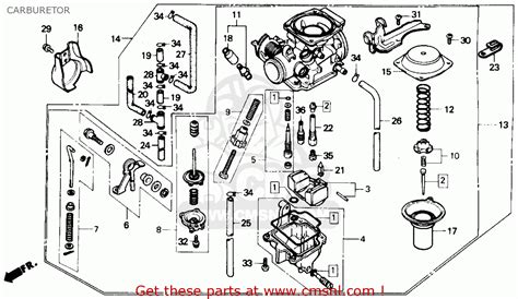 honda rebel 250 parts diagram honda cmx250cd rebel 250 ltd 1986 usa carburetor