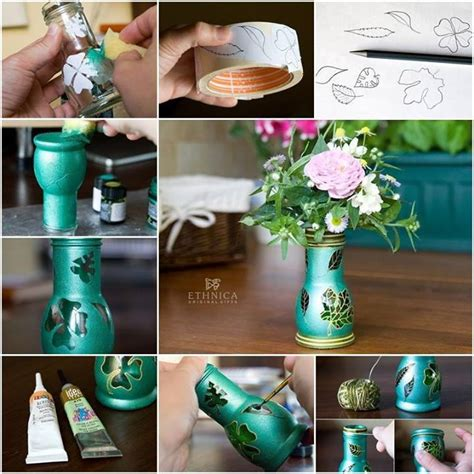 How To Make Vase From Bottle by Beautiful Vase Made From Glass Bottle