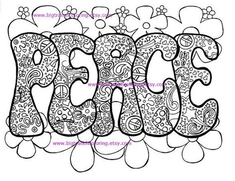 coloring pages for adults peace adult coloring page hippie retro peace by