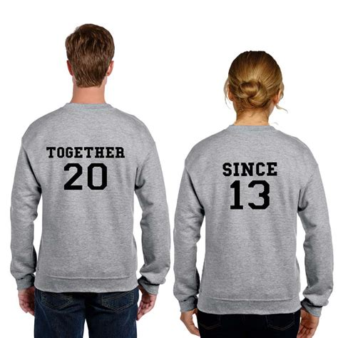 T Shirts For Couples Sweatshirts Together Since Anniversary T Shirts Giftsmate