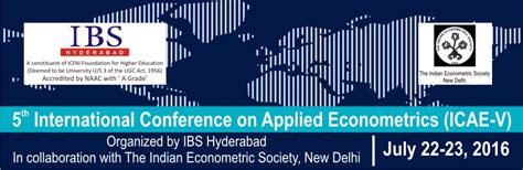 Ibs Hyderabad Fees Structure For Mba by 5th International Conference On Applied Econometrics Icae V