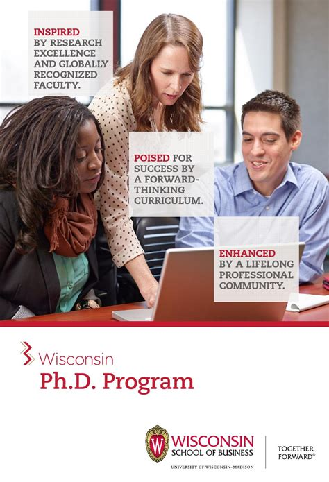 Of Wisconsin Mba Program by Wisconsin Ph D Program Brochure By Of