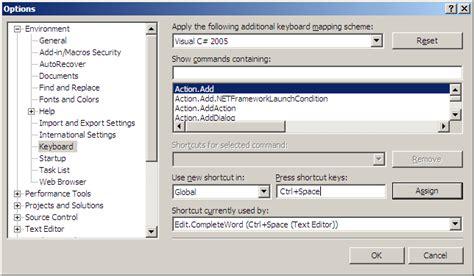 reset visual studio keyboard settings intelisense not working in visual studio 2008 stack overflow