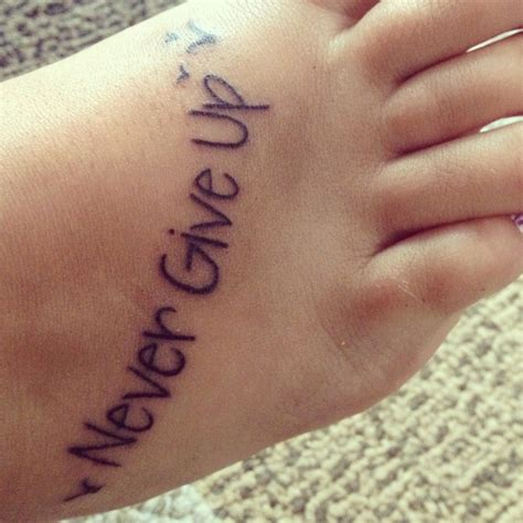 tattoo lettering never give up never give up tattoo with birds tattoo pinterest