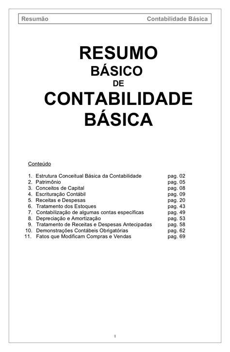 contabilidade-bsica-resumo by contacontabil via Slideshare