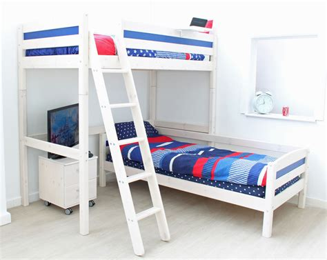 thuka trendy high sleeper bed d l shaped guest bed