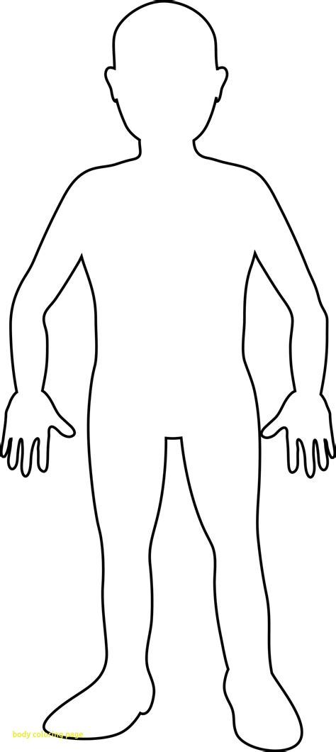 body coloring pages for toddlers body coloring page wkwedding co