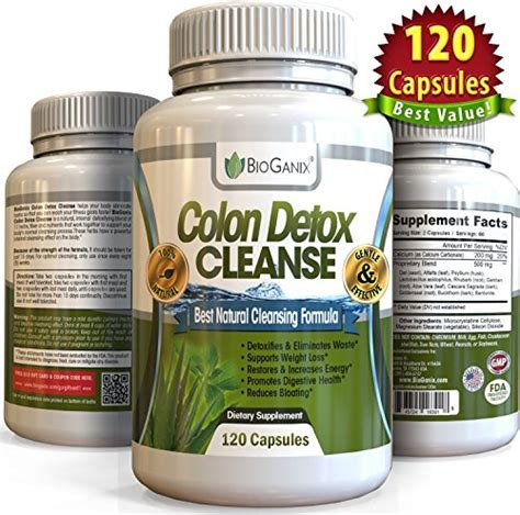 Healthy Detox Cleanse Pills by 1 Dual Colon Detox Cleanse 120 Capsules Best