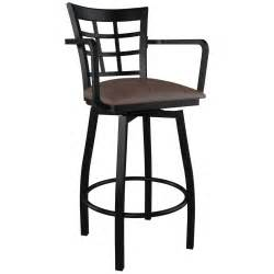 Bar Stool With Back And Arms Window Back Swivel Bar Stool With Arms