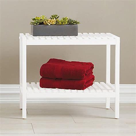 bathroom bench white bristol birch wood bathroom bench in white bed bath beyond