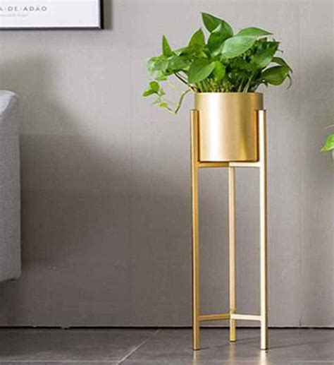 goldblack metal plant stand  planter iron floor