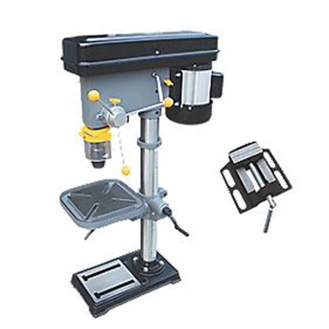 screwfix bench vice titan ttb541dbt 530mm drill press 230v pillar drills