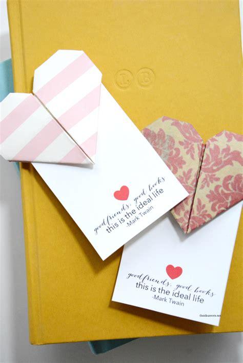 Valentines Day Origami - origami bookmarks the idea room