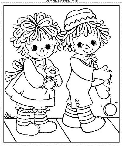 coloring book pages raggedy pin by barbara harned on copics