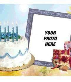 photofunia cornici photo frame with birthday cake and gifts