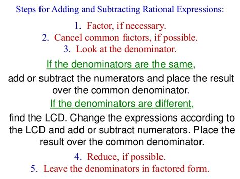 how to simplify rational expressions step by step the chapter 9 rational expressions