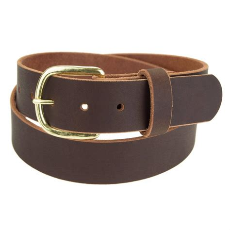 Handcrafted Leather Belt - genuine buffalo leather belt 1 1 4 quot wide amish handmade