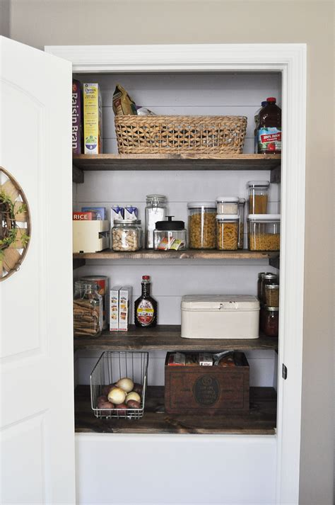 farmhouse pantry makeover  glass jar