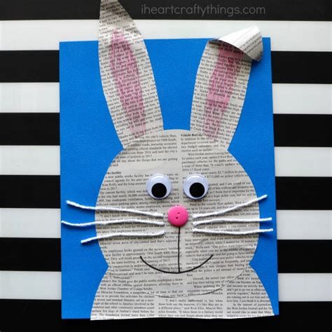 How To Make A Bunny Out Of Paper - simple and easy newspaper bunny craft i crafty things