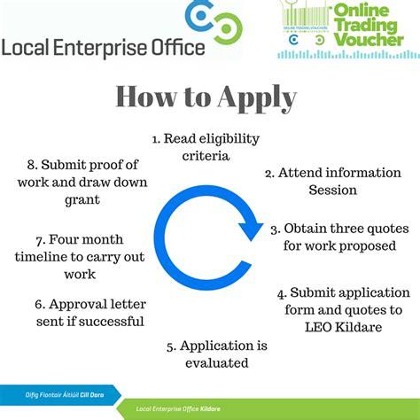 how do i apply local enterprise office kildare