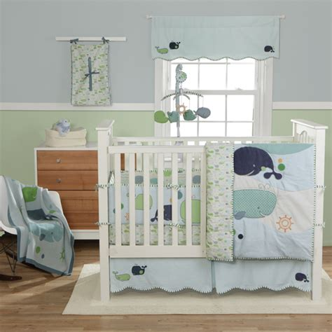whale crib bedding set bringing up boys nursery bedding