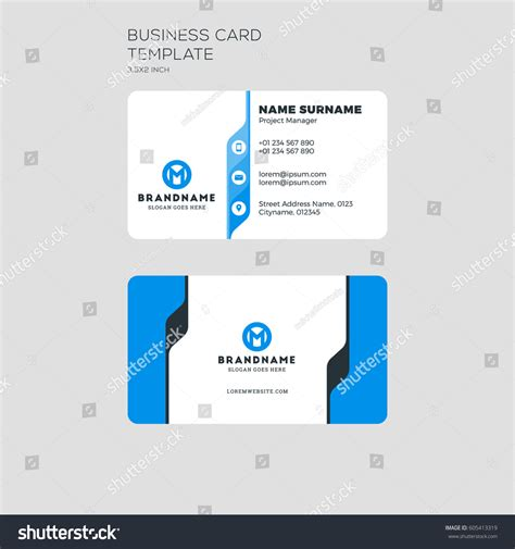 business card template for self printing corporate business card print template personal stock