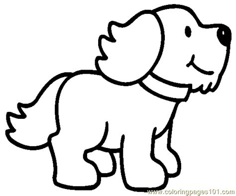 dog puppy coloring page 24 coloring page free dog