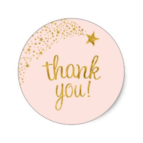 thank you sticker template thank you stickers zazzle co uk