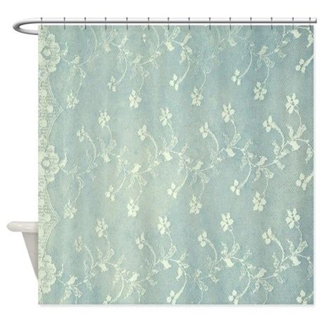 Teal Colored Shower Curtains Teal Lace Shower Curtain By Admin Cp26591299