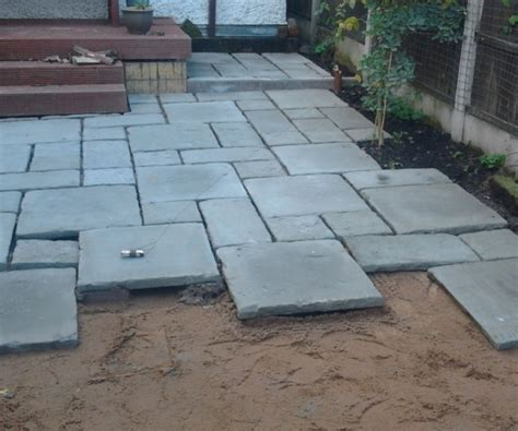 How To Lay Patio Slabs by Laying A New Path And Patio E H Gregory Sons