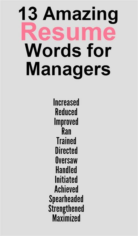 resume words words to use on a resume resume badak