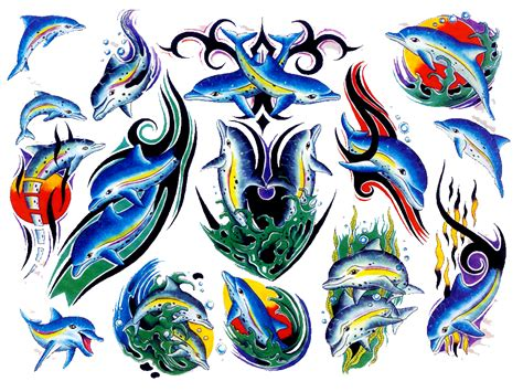 flash tattoo ideas dolphin tattoos