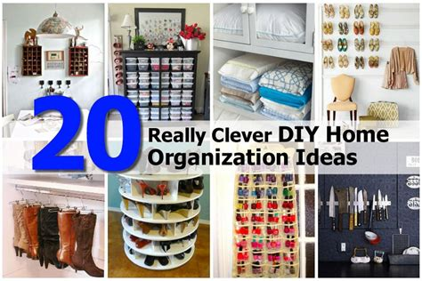 20 really clever diy home organization ideas