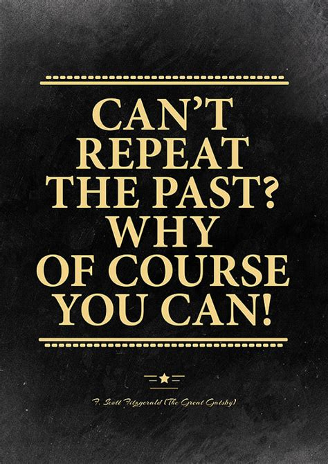 great gatsby themes about the past the great gatsby quote poster roaring 20s decor