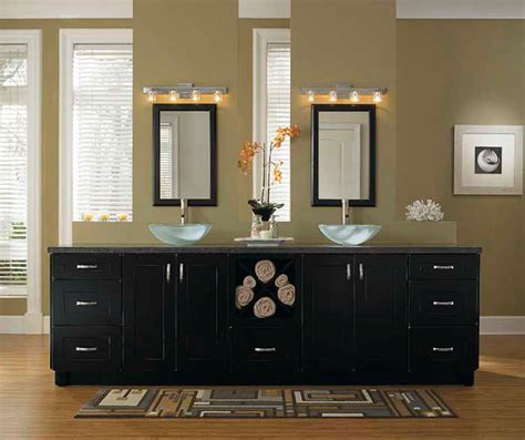black bathroom storage cabinets kemper cabinetry