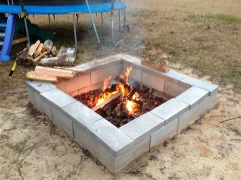 firepit blocks cinder block pit pit pits