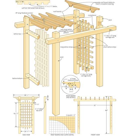 trellis plans free build a garden gateway pergola http canadianhomeworkshop
