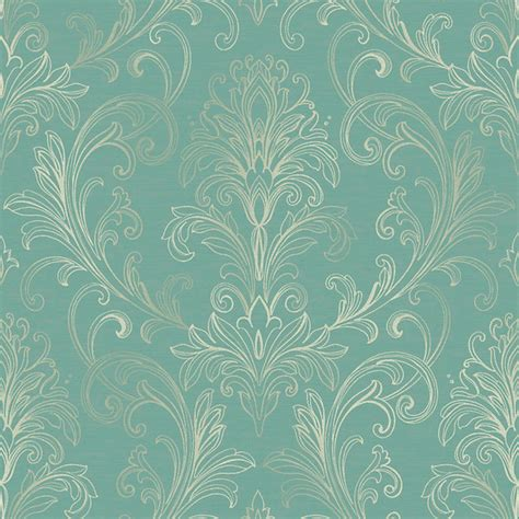 Ballard Design Outdoor Rugs linear damask wallpaper turquoise pearl double rol