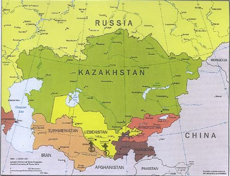 map of central asia central asia map