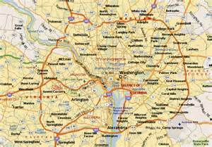 washington dc map surrounding states map of washington dc and surrounding cities washington