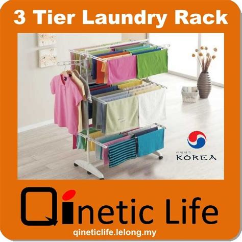 Pemutih Baju korea 3 tier laundry clothes drying end 1 13 2017 10 15 am
