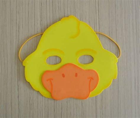 como hacer mascaras de pollitos con platos de papel molde de antifaz de pato imagui