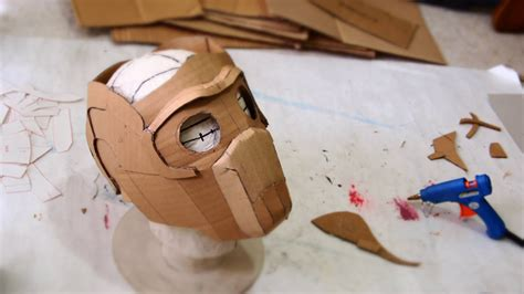 66 star lord mask part 1 cardboard free template how